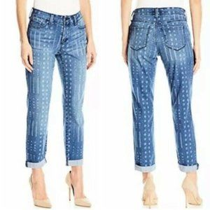 NYDJ Jessica Relaxed Boyfriend Jeans Print Stretch